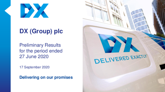 DX (Group) plc Full Year Results Presentation 2020