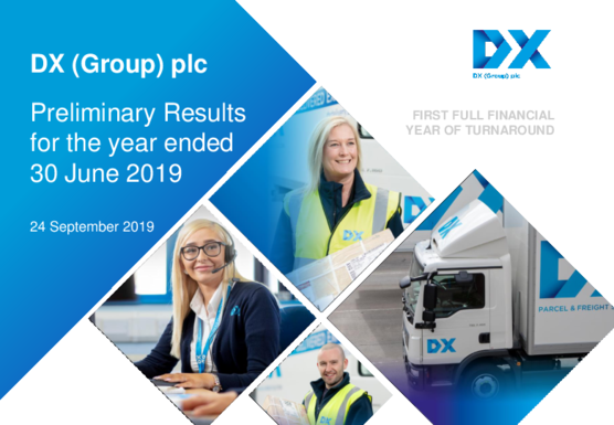 DX (Group) plc Full Year Results Presentation 2019